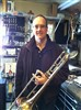 Alan Blair with his old King trombone