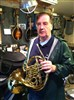 George Ludder with his Conn French Horn, this one really needed some TLC!