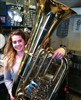 Lilyana with her Tuba after Ultrasonic, what a difference.